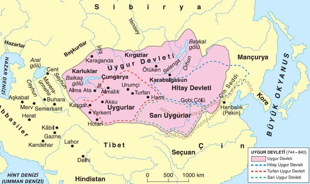 قلمرو امپراتوری اویغورها