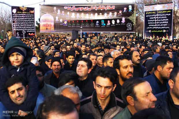 جان باختگان حادثه تصادف قطار تبریز – مشهد تشییع شدند
